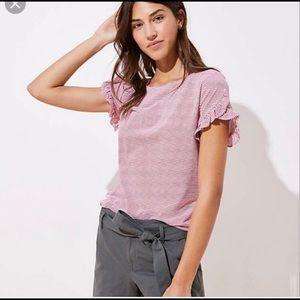 Loft Ruffle Sleeve T Shirt